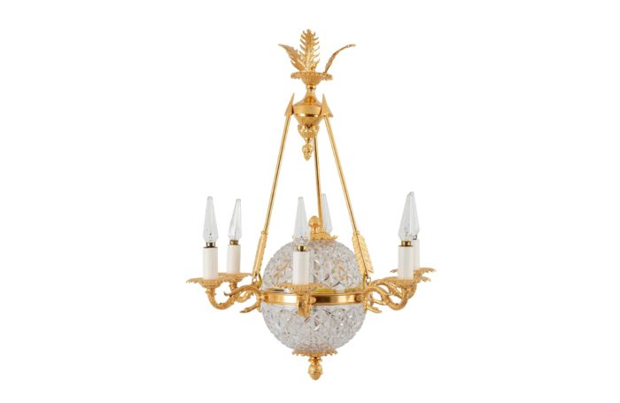 suspension empire cristal bronze doré prcpl