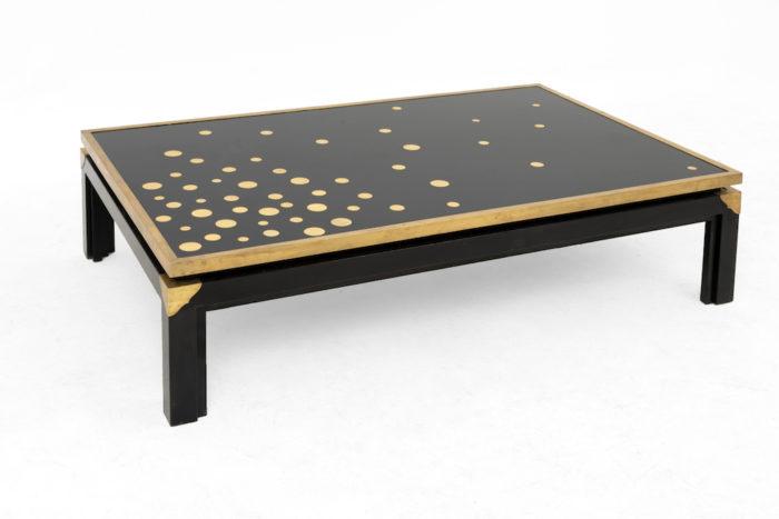 table basse noire et or 3:4
