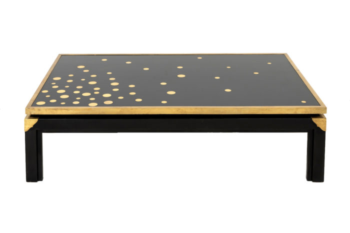 table basse noire et or prcpl