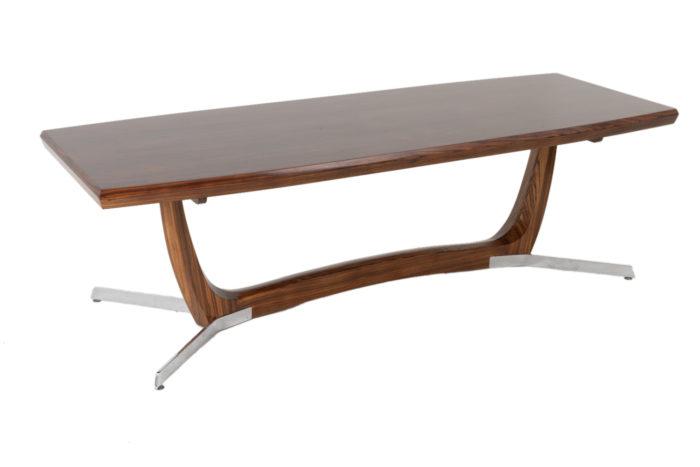 table basse palissandre métal 3:4