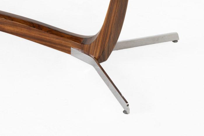 table basse palissandre métal pieds métal