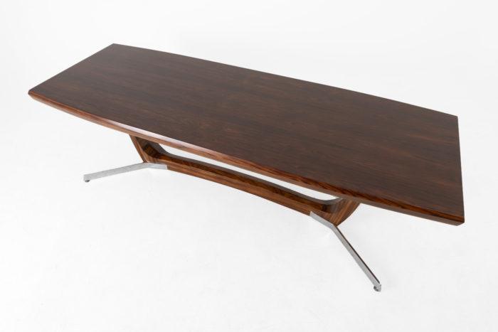 table basse palissandre métal plateau