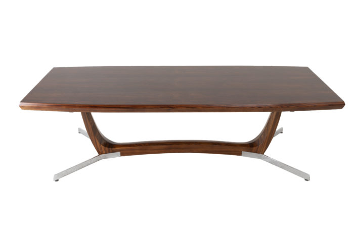 coffee table rosewood metal prcpl
