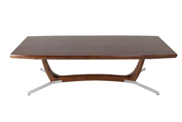table basse palissandre métal prcpl
