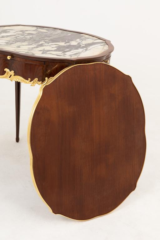 table bouillotte style louis xv bouchon dos