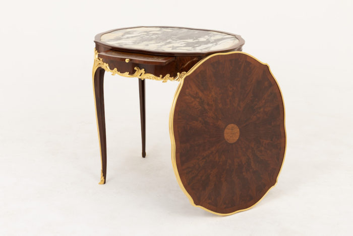 table bouillotte style louis xv bouchon sorti rosace