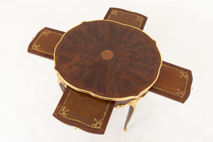 table bouillotte style louis xv haut tirettes sorties