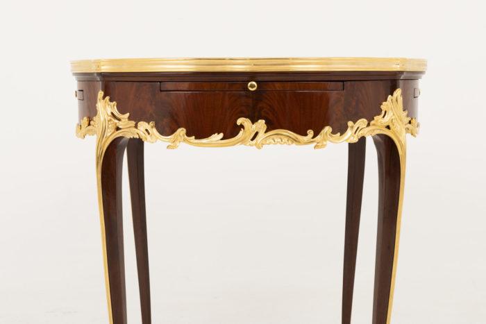 table bouillotte style louis xv plateau face