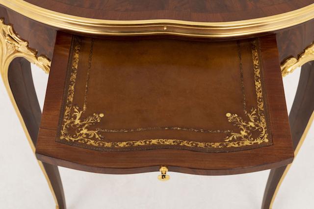 table bouillotte style louis xv tirette