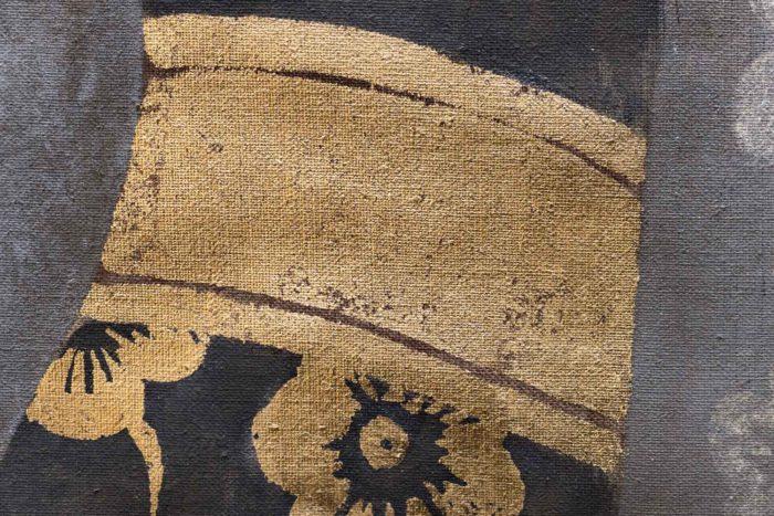 toile portrait femme renaissance ceinture dorée