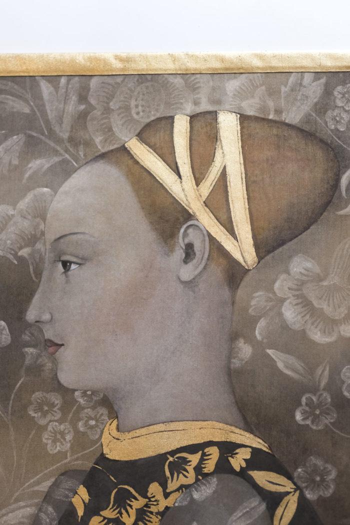 toile portrait femme renaissance tête