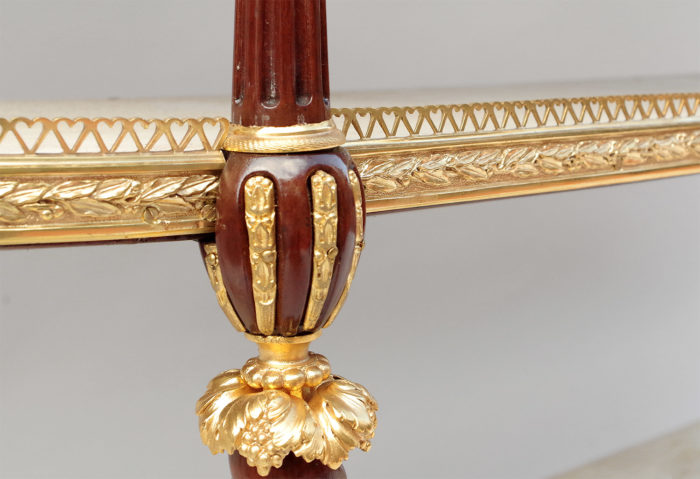 weisweiler console balustre bronze bois