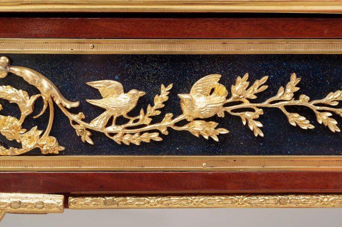 weisweiler console bronzes dorés oiseaux branches
