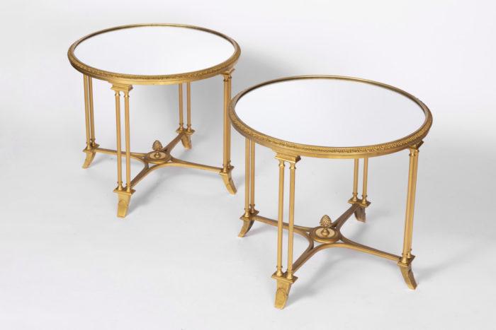 guéridons style louis xvi bronze doré