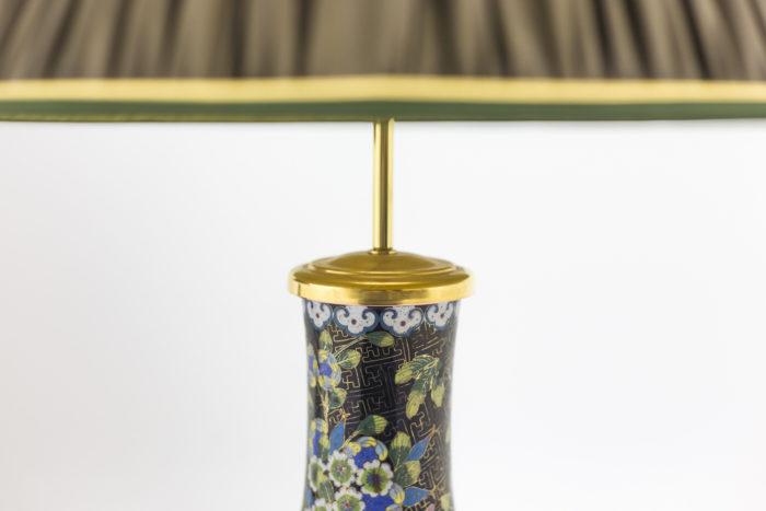 lampe émaux cloisonnés monture bronze doré