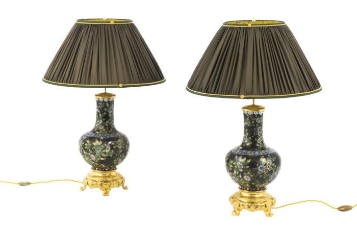 black cloisonné enamel lamps prcpl