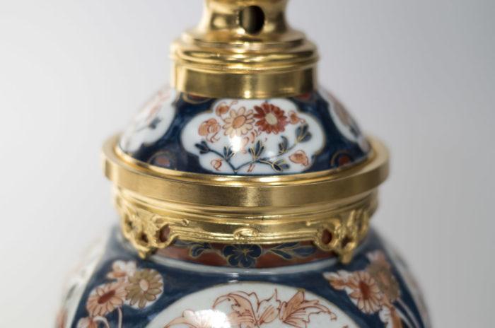 lampes porcelaine imari bronze doré