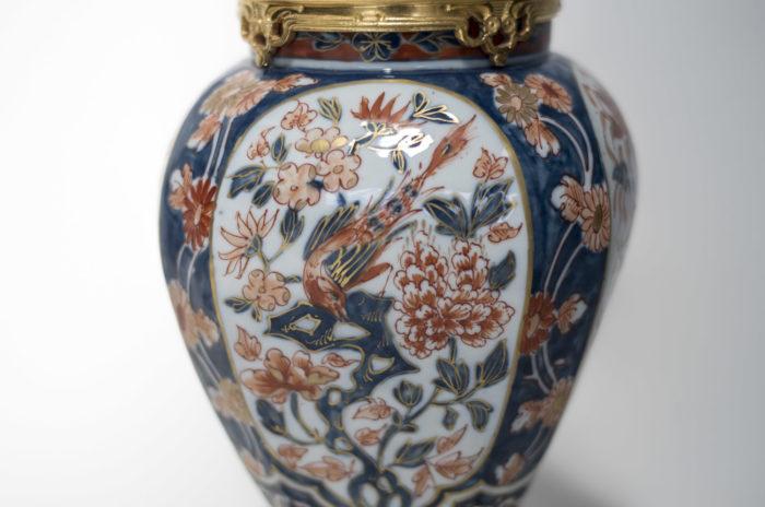 lampes porcelaine imari oiseau