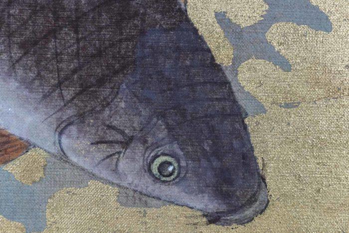 toile carpes zoom tête poisson
