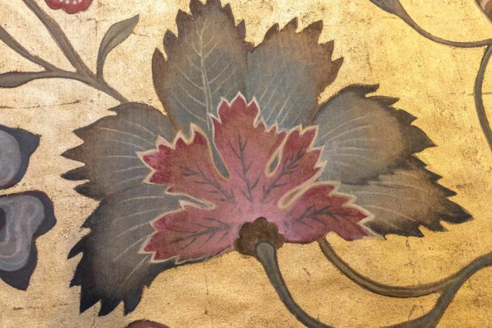 toiles singes feuille rose bleue
