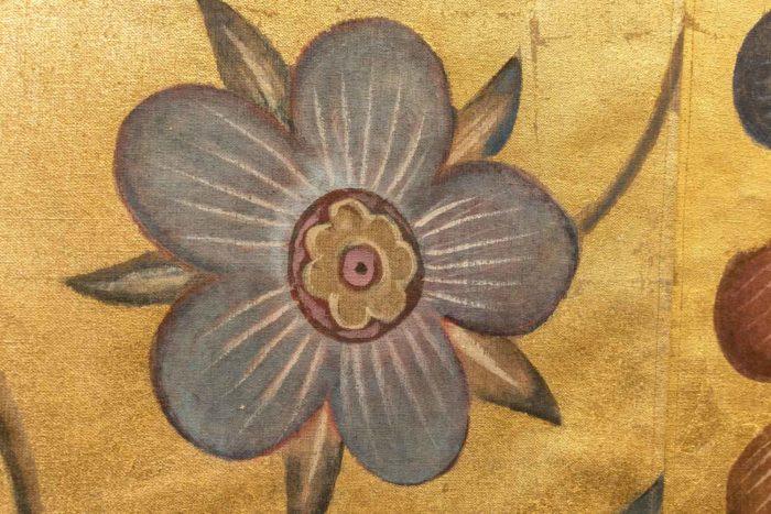 toiles singes fleur bleue