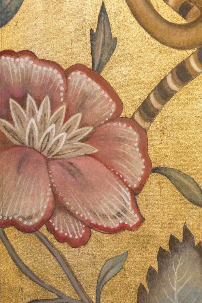 toiles singes fleur rose