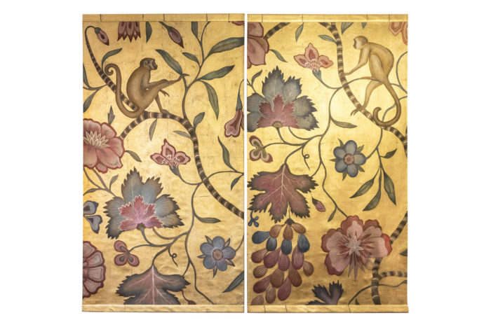 toiles singes fleurs feuillages prcpl