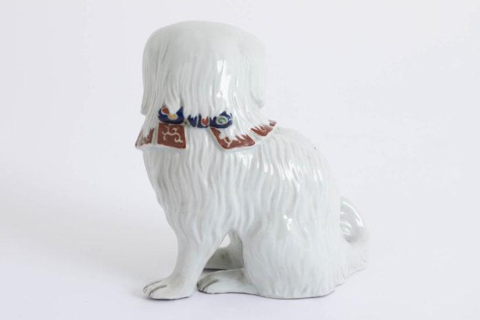 chien porcelaine kutani côté dos