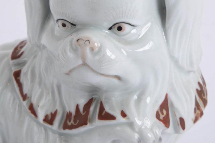chien porcelaine kutani détail tête