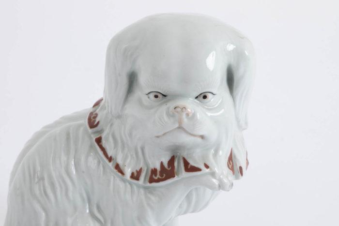 chien porcelaine kutani tête
