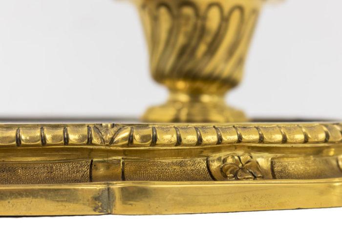 encrier bronze doré laque bordure