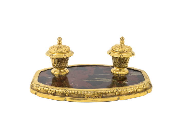 gilt bronze inkwell lacquer prcpl