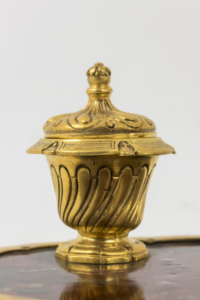 encrier bronze doré laque réservoir