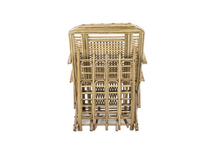 fauteuil ethnique bamboo dos
