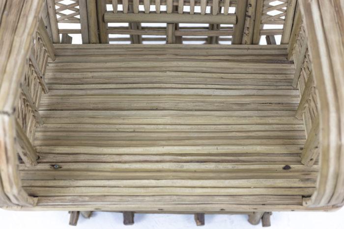 fauteuil ethnique bambou assise