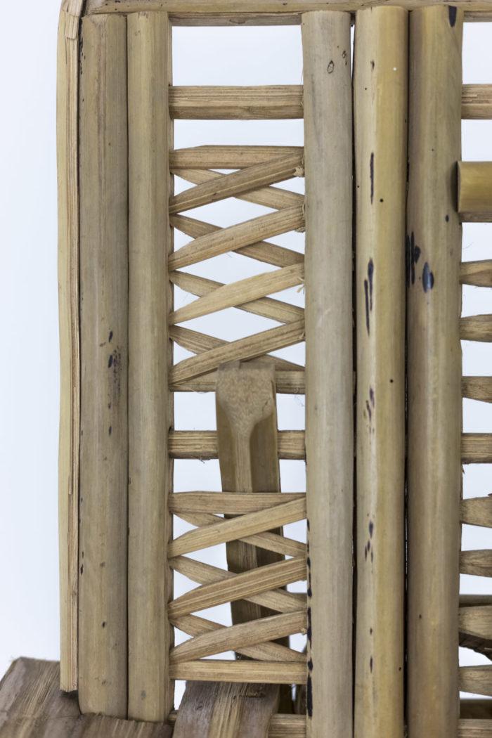 fauteuil ethnique bambou detail
