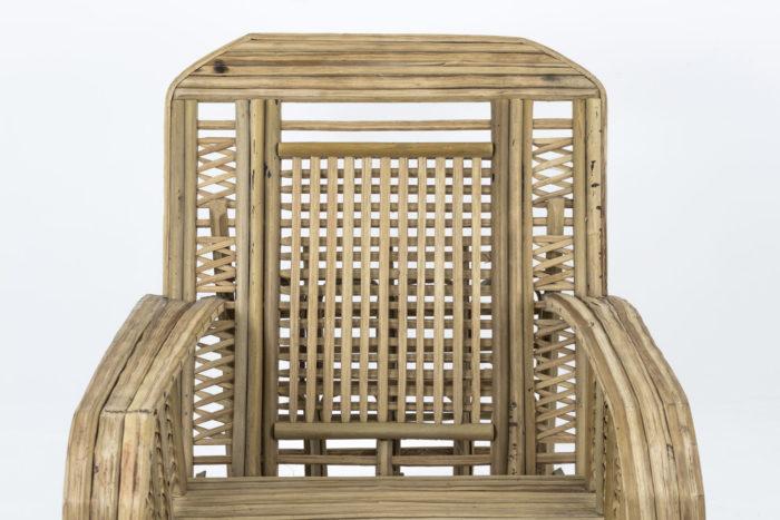 fauteuil ethnique bambou dossier