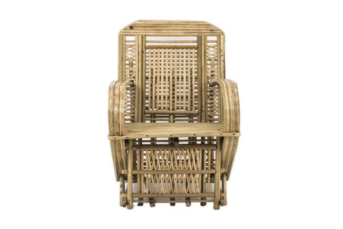 fauteuil ethnique bambou face