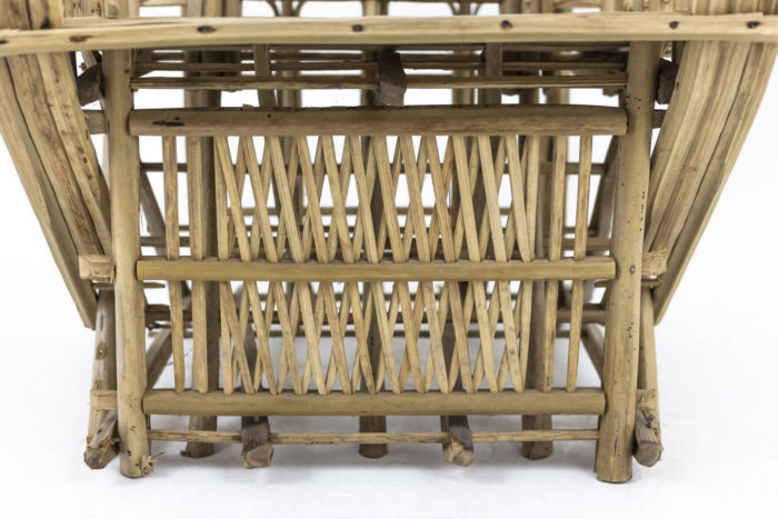 fauteuil ethnique bambou pied