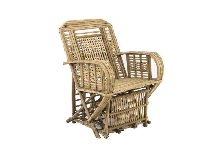 fauteuil ethnique bambou trois quart