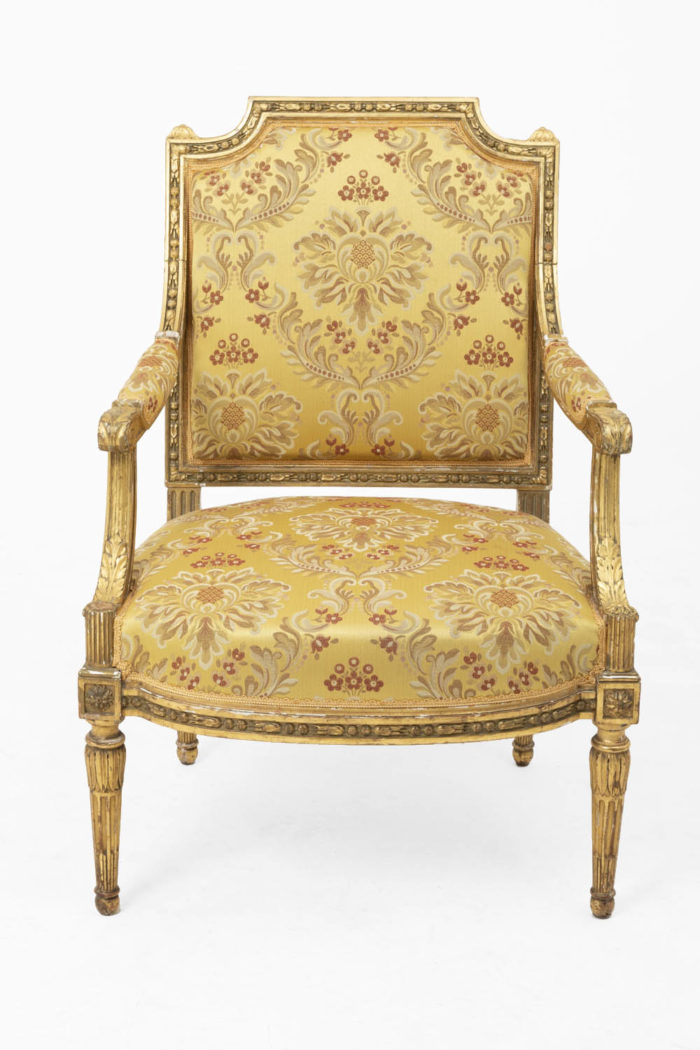 jacob fauteuils style louis xvi face