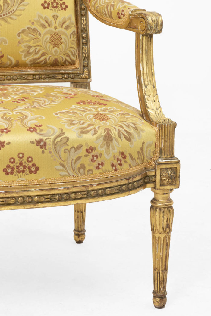 jacob fauteuils style louis xvi pied accotoir