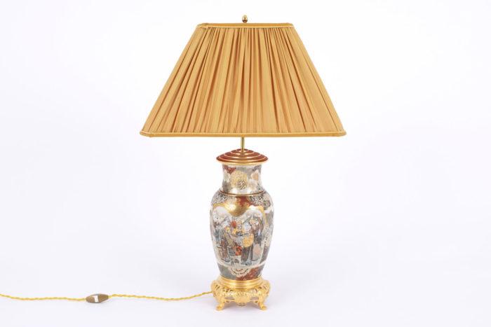 lampe faience satsuma dos
