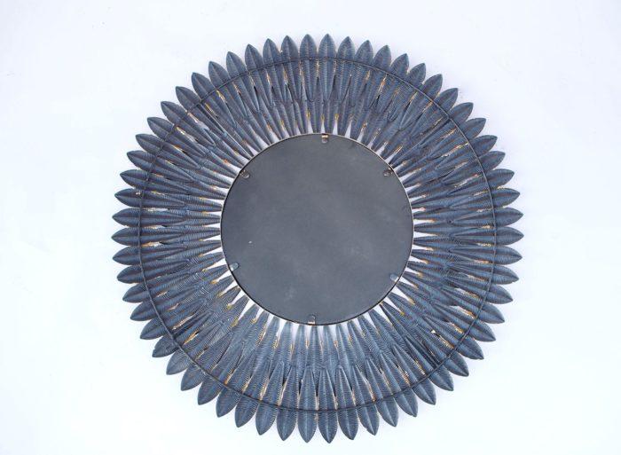 miroir plumes laiton dos