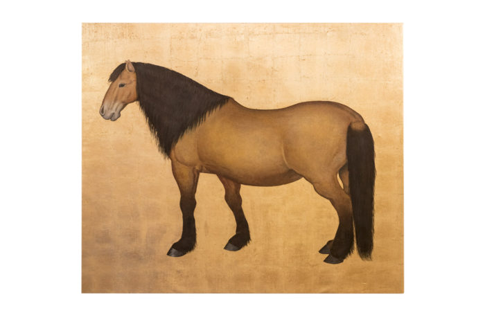 canvas horse bai gilt background prcpl