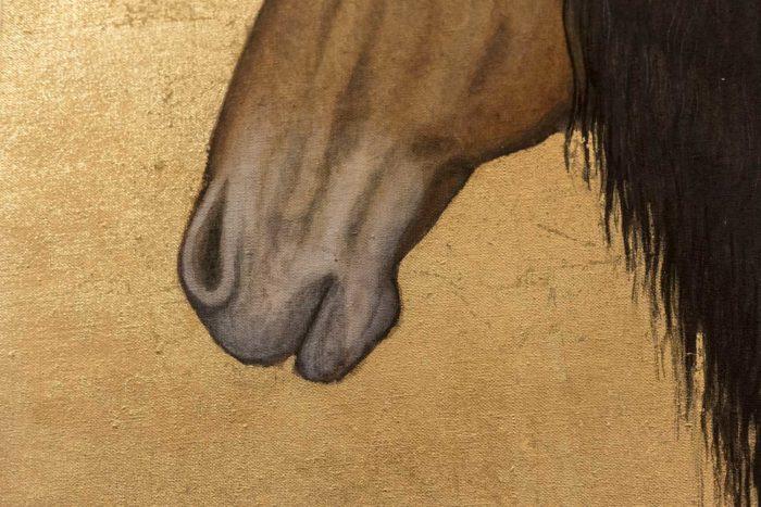 toile cheval nez