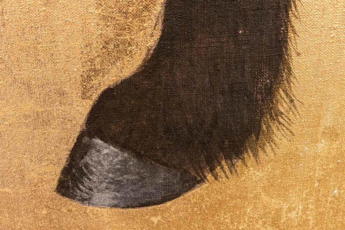 toile cheval sabot