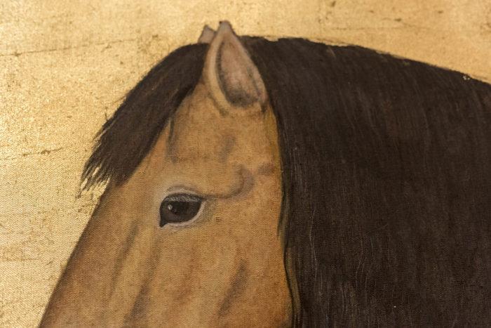 toile cheval yeux crinière