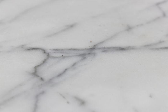 weisweiler guéridon tripode marbre blanc