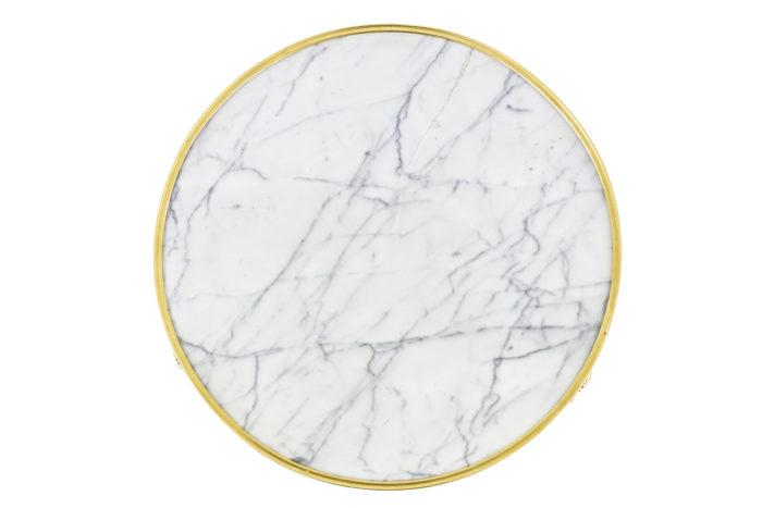weisweiler guéridon tripode marbre plateau